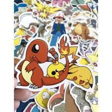 Miếng dán Sticker anime Pokemon trọn bộ 150 hình - In rõ ràng sắc ...