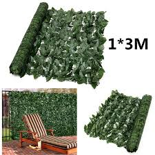 0 5 1 3 5m Artificial Hedge Leaves Faux Ivy Leaf Privacy Fence Screen Garden Decor Backyards Decoration Walmart Canada