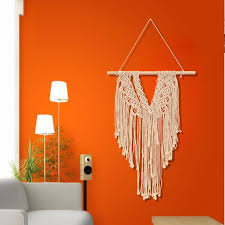 Cotton Hand Knitted Woven Macrame Wall Hanging Decor Hanging Tapestry Boho Bohemian Tapestry For Living Room Bedroom Kids Room Shop Wedding Party Home Wall Art Decor Walmart Com Walmart Com