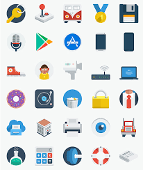 free flat design icons psd png