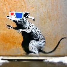Banksy Rat Sticker On Clear Vinyl 3d Glasses Decal Street Art Graffiti Car Bike Ebay