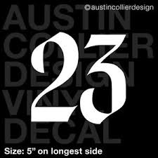 5 Number 23 Vinyl Decal Car Truck Window Laptop Sticker Lucky Ebay