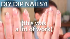 my own dip nails at home diy sns