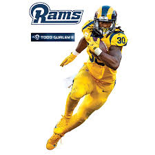 Fathead Todd Gurley Ii Los Angeles Rams Color Rush 3 Pack Life Size Removable Wall Decal
