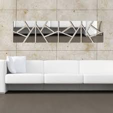 silver piece acrylic mirror wall