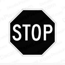 Stop Sign Decal Vinyl Decal Sticker Wall Decal Decals Ground