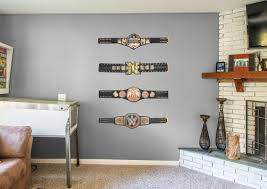Wwe Bedroom Ideas Wwe Title Belts Collection Wall Decals Visit Us And Follow Us On Pinterest For All Your Home Decor And Gift Id Home Decor Decor Wwe Bedroom