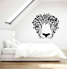 Vinyl Wall Decal Leopard Wild Animal Face Tribal Style Predator Stickers G2125 Ebay