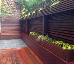 Nyc Terrace Wood Fence Deck Patio Privacy Ipe Bluestone Planter Boxes Contemporary Deck New York By Amber Freda Garden Design Houzz Au