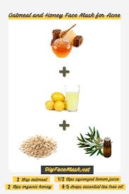 oatmeal and honey face mask for acne