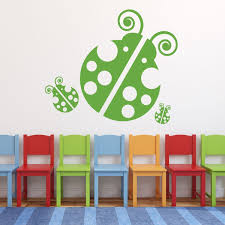 Ladybug Wall Decals Personalized Vinyl Decor Wall Decal Customvinyldecor Com