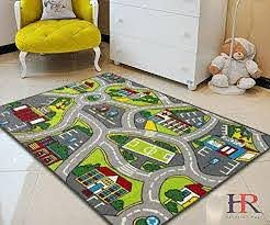 Kids Playmat Car Road Carpet 5x7 Nursery Rugs 8x10 Non Slip City Map For Sale Online