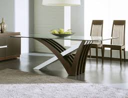 contemporary dining table design glass