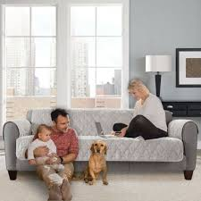 sure fit faux mink sofa furniture cover