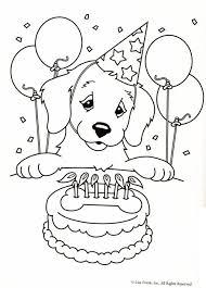 Kleurplaat Hond Verjaardagstaart Puppy Coloring Pages Dog