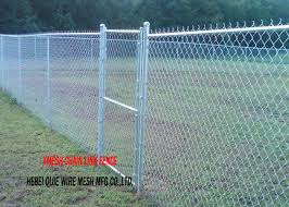 11 Gauge Chain Link Fence Fabric Hot Dipped Galvanised Steel Wire Posts