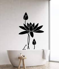 Vinyl Wall Decal Lotus Flower Water Lily Bathroom Decor Garden Sticker Wallstickers4you