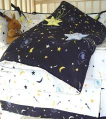 star moon little fern crib baby bedding