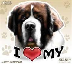 I Love My Saint Bernard Dog 4 Car Truck Home Vinyl Sticker Decal Pet Gift Usa Ebay