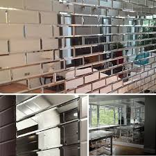 mirrored bevelled wall tiles mirror