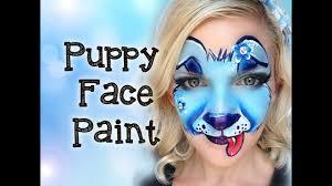 puppy dog face painting tutorial makeup