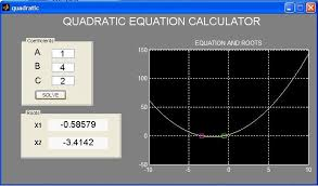 quadratic equation calculator shows how