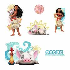 Disney S Moana And Friends Wall Decals By Roommates