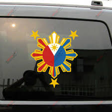 Filipino Vinyl Car Decal Sticker 4 75 Create No 1 Philippine Flag Design Rl Auto Parts And Vehicles Auto Parts And Vehicles Auto Parts Accessories