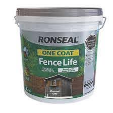 Ronseal One Coat Fence Life Charcoal Grey 9ltr Fence Paint Screwfix Com