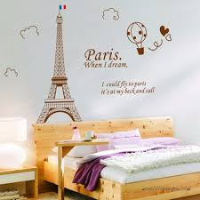 Removable Paris Eiffel Tower Wall Sticker Art Decal Mural Diy Decor Home Bedroom 60x90cm
