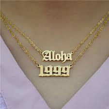 custom name pendant necklace women men