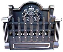 ci920 black cast iron basket grate with