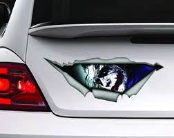 Joker Decal Car Truck Window Sticker Dc Smile Crazy Mad Batman Dark Knight