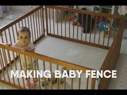 Making Baby Fence Diy Woodworking Youtube