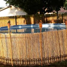 An Inexpensive Way To Dress Up Your Above Ground Pool Above Ground Swimming Pools Above Ground Pool Landscaping Backyard Pool Landscaping