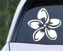 Plumeria Flower B Die Cut Vinyl Decal Sticker Decals City