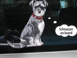 Schnauzer Dog Sticker With Wiper Wagging Tail For Car Rear Windscreen For Sale Online Ebay