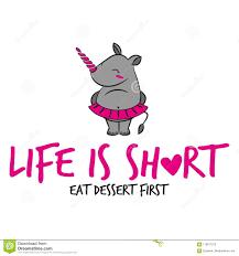life is short eat dessert first` stock vector illustration of