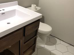 new white toilet and white sink dont match