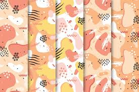 draw with colorful pattern collection