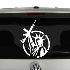 Statue Of Liberty With Ar15 Second Amendment Vinyl Decal Sticker