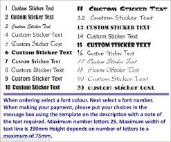 Custom Text Personalised Name Lettering Funny Car Van Window Shop Decal Sticker Archives Midweek Com