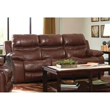catnapper patton leather reclining sofa