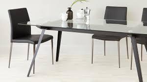 elise black chrome dining chair glass