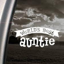 Buy Worlds Best Auntie White Decal Sticker Wall Laptop Die Cut White Decal Sticker In Cheap Price On Alibaba Com