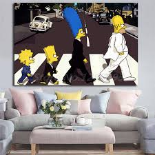 The Simpsons Hd Wallpapers For Living Room Home Decor Modern Wall Art The Simpsons Family