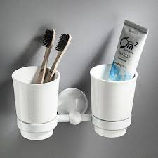 toothbrush and cup holder wall mount