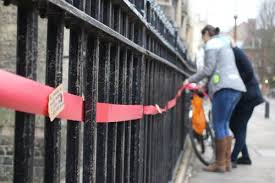 Students Use Red Ribbons To Campaign Against Climate Change Varsity