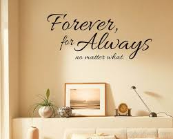 Forever For Always Quotes Wall Decal Family Vinyl Art Stickers