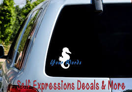 Personalized Seahorse Car Decal With Images Car Car Decals Personalised